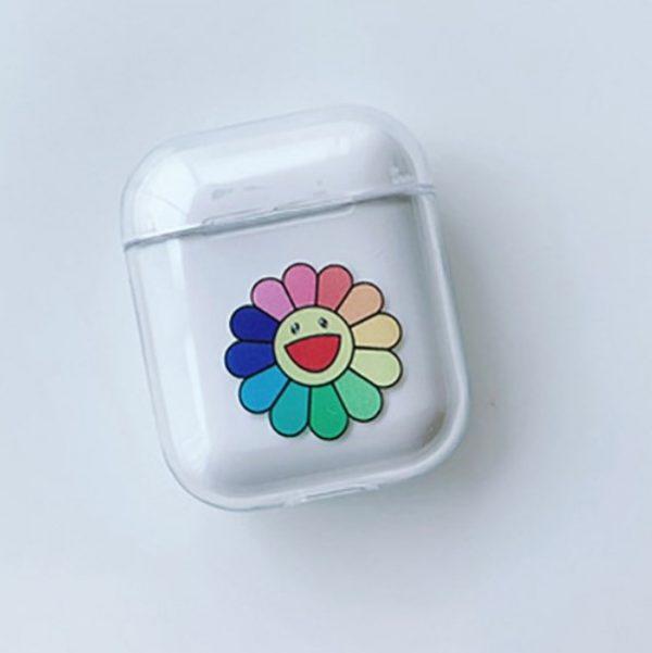 coque airpods fleur multicolore