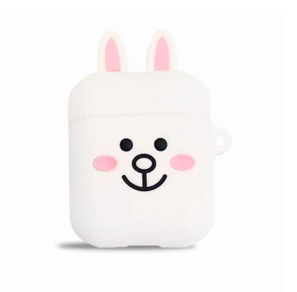 coque airpods lapin blanc